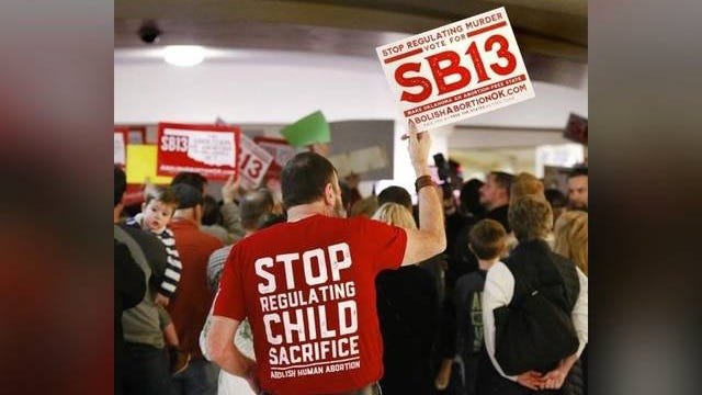Supporters of Senate Bill 13 rally at the Oklahoma state Capitol in support of abolishing abortion. The Oklahoman file