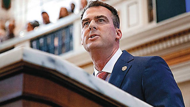 Gov. Kevin Stitt delivers his State of the State Address on Monday, Feb. 3, in the chambers of the Oklahoma House of Representatives in Oklahoma City. Chris Landsberger/The Oklahoman file
