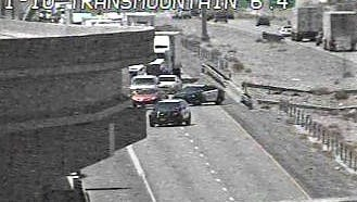 Accident closed Interstate 10  West at Trans Mountain Road.