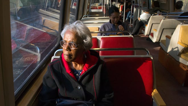 Norma Hanna is a senior citizen who recently stopped driving and is learning how to navigate public transportation.