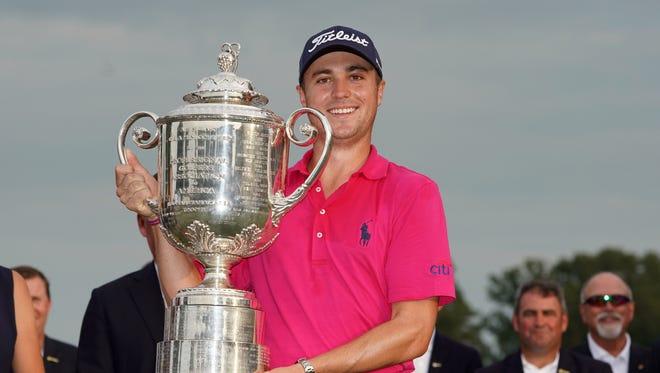 The PGA Championship, won by Justin Thomas in 2017, will move to May starting next season.