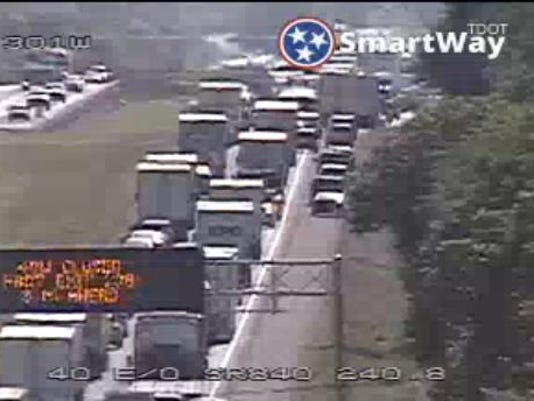 Nashville traffic: I-40 west closed in Wilson County