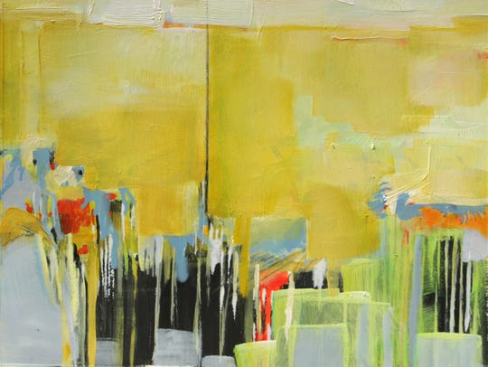 The abstract paintings of Sara Katz will be on display