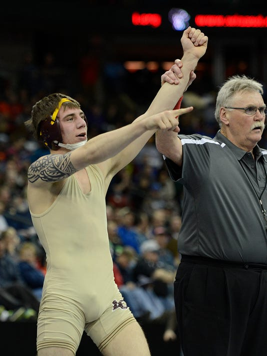 ES_GPG_WIAA wrestling state tournament_Day 2_2.27.15