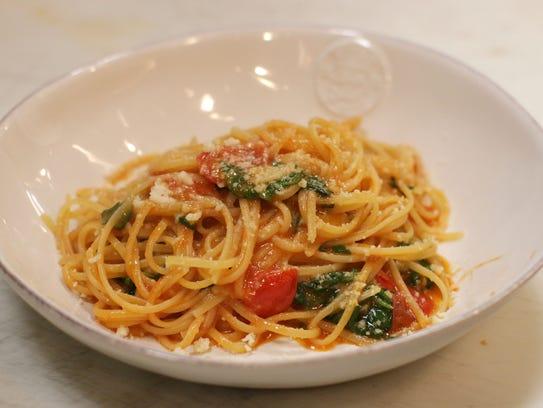Chef Stefano Viglietti's classic,  Linguini con Filetti