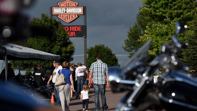 Hot Harley Nights at J&L Harley-Davidson in Sioux Falls on Thursday, July 7, 2016.