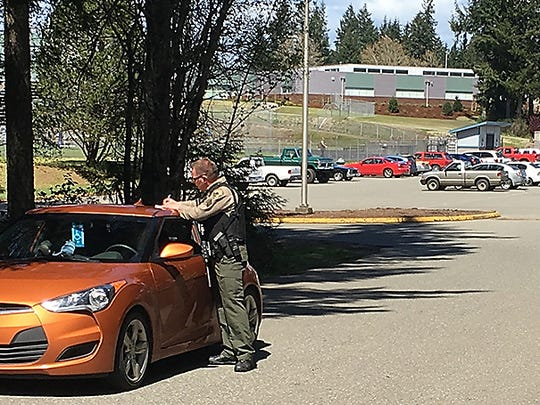 More than 100 law enforcement officers from Kitsap and Mason counties responded to the erroneous report of an active shooter at Hawkins Middle School on April 26.