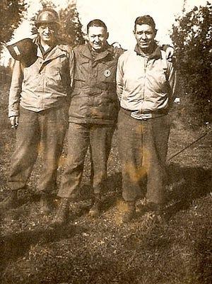 Shug Jordan, right, during World War II.