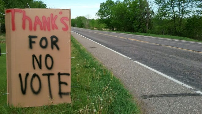 A sign outside Sandi Gohmann's house on May 25 thanks the Stearns County Board of Adjustment for voting against a variance request on a property in St. Joseph township where a developer has proposed a trap shooting range.