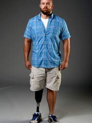 Army veteran Elliott James, 32, had his right leg blown off in combat in Iraq in 2005 and has since suffered from PTSD.