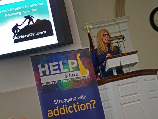 "Karyl Rattay, director for the Division of Public Health, talks about the ""Help is Here"" website that has been updated with additional features to navigate people on how to get help with addiction."