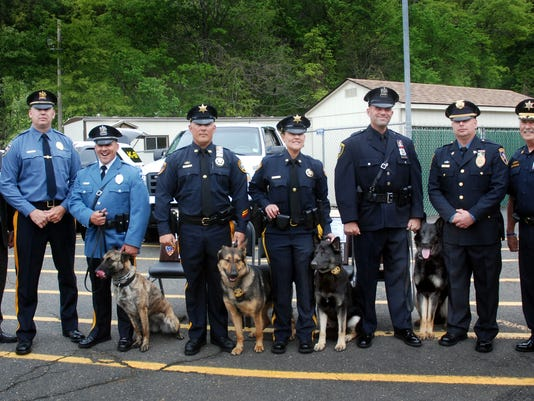 Class 17-01 graduates the Union County's Sheriff's Office K9 Training Academy