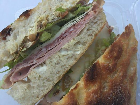 The mortadella sandwich from The Wheel in Oakley.
