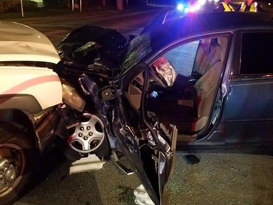 Woman injured in Friday crash