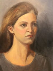 "This painting by Claire Miller is titled ""Andrea."""
