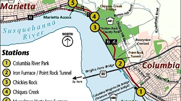 Trail Access Guide (Provided at Columbia Crossings River Trails Center)