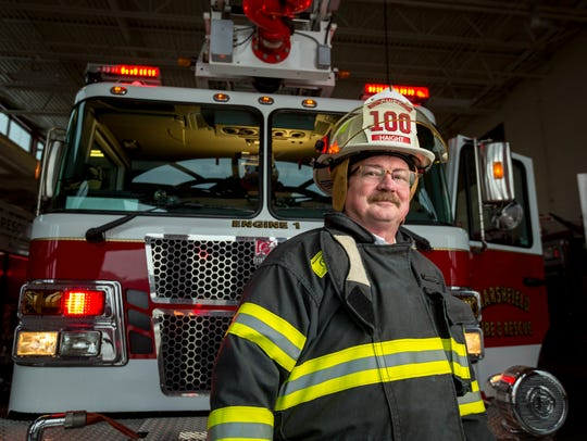 Retiring Deputy Chief, Robert Haight from the Marshfield