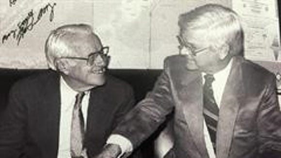 Sen. Wendell Ford, D-Ky., and Rep. Hal Rogers, R-Ky.