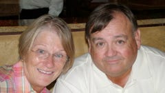 Waukesha South golf coach and teacher Lee Kaczmarek passed away recently. In this photo, he is with his wife Gretchen.
