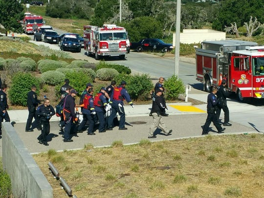 Monterey County first responders conduct a training exercise to better coordinate agencies in an active shooter situation.