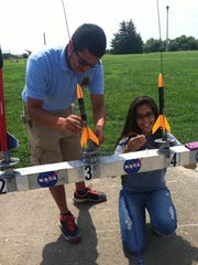Model rocket launches are among many free activities offered for children and adults at the Wallops Flight Facility Visitor Center.