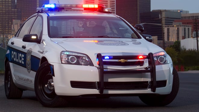 A Chevrolet Caprice police patrol vehicle.