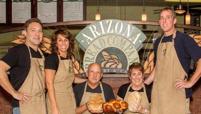 Matthew Wakser, Amy Wakser, Jerry Benkel, Carole Benkel & Adam Benkel of Arizona Bread Company.