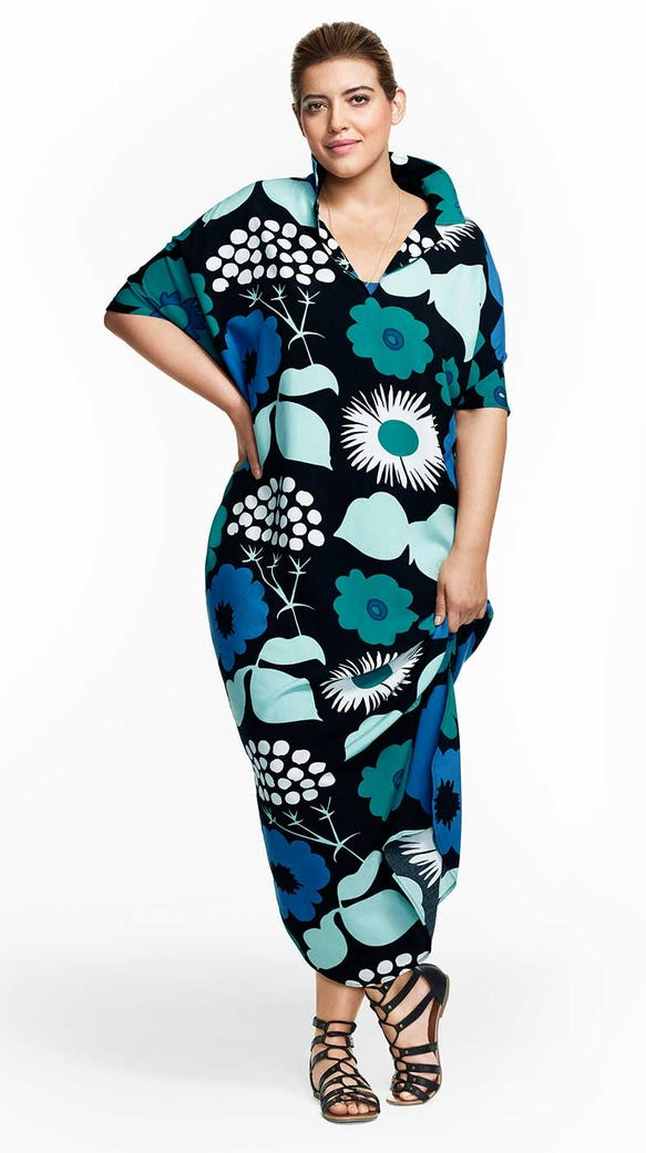 Women's Long Kaftan Dress in Kukkatori Print, $34.99