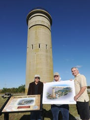 From left, Ernie Felici, Dr. Gary Wray and Bob Frederick