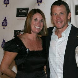 Stephanie McIlvain and Lance Armstrong at a 2008 benefit for autism in Dana Point, Calif. Federal attorneys want to question Armstrong about his past relationship with McIlvain as part of the government's civil suit against Armstrong.
