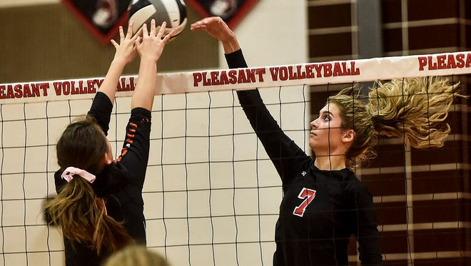 On Tuesday night Pleasant took on North Union in women's volleyball.