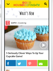 The new GoodHousekeeping.TV service on a mobile device.
