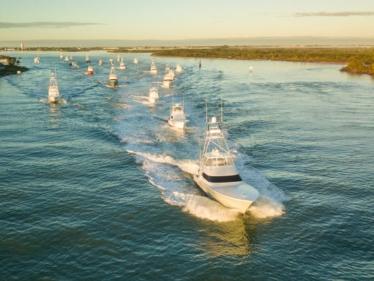 The fleet competing in the Pelican Yacht Club Invitational