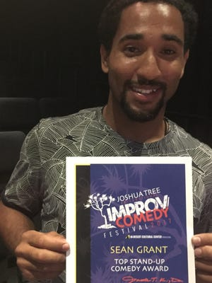 Stand-up comic Sean Grant won the grand prize of the Joshua Tree Improv Comedy Festival Sunday at the Hi-Desert Cultural Center.