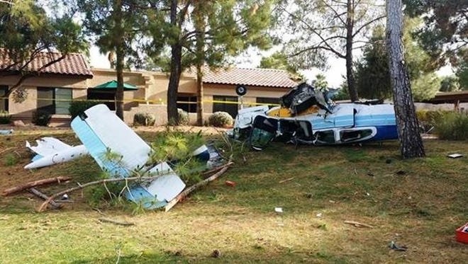 This single-engine plane crashed into the greenbelt of a senior community in Surprise, Arizona, on May 7, 2016.