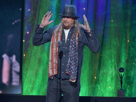 Kid Rock inducts Cheap Trick at the 31st Annual Rock