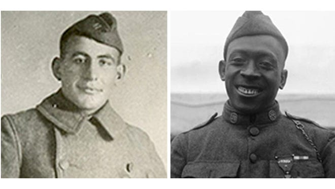 Sgt. William Shemin, left, and Pvt. Henry Johnson will be honored with the nation's highest award for valor on June 2 by President Obama for their heroics during World War I.