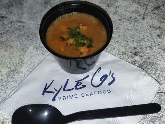 Kyle G's lobster bisque was welcomed on the cool evening