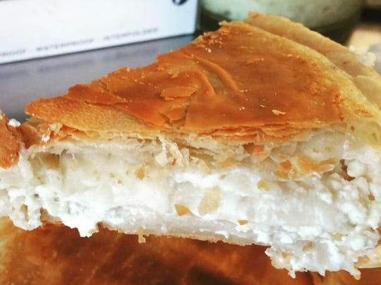 Burek stuffed with cheese from Balkan Express.