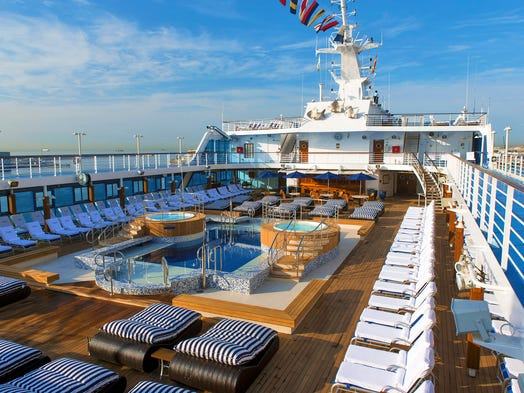 One of the world's more upscale cruise ships, Oceania Cruises' Insignia, has just emerged from a massive makeover, and we have the first shots of its new look.