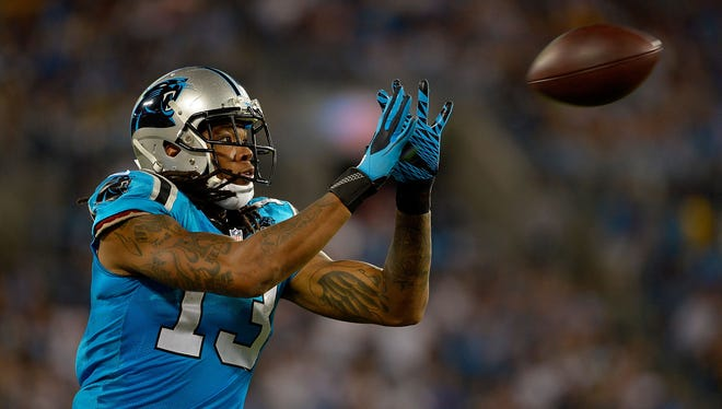 Rookie receiver Kelvin Benjamin's ability to play will have a major impact on the Panthers' offense.