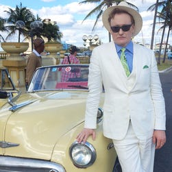 Conan O'Brien says he put himself in fish-out-of-water situations in Havana.