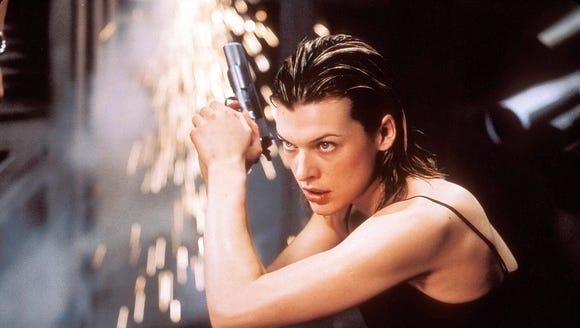 "Milla Jovovich in a scene from ""Resident Evil."""