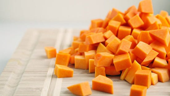 The chief ingredient for this recipe is butternut squash which is high in the nutrient potassium.