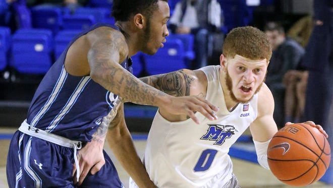 MTSU's Tyrik Dixon (0) could be back in the starting lineup after coming off the bench on Thursday.