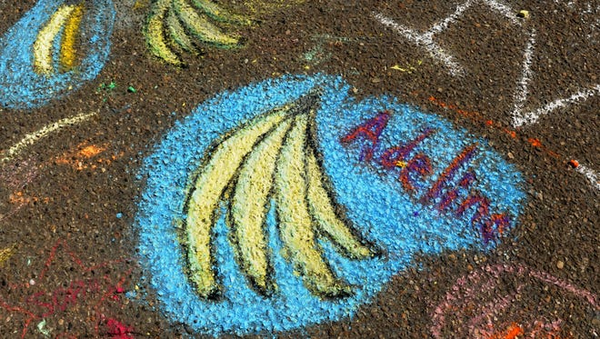 Banana-themed chalk drawings have been featured at previous Banana Festivals at the Port of Hueneme. The annual event includes banana-centric dishes, live music and tours of the port.