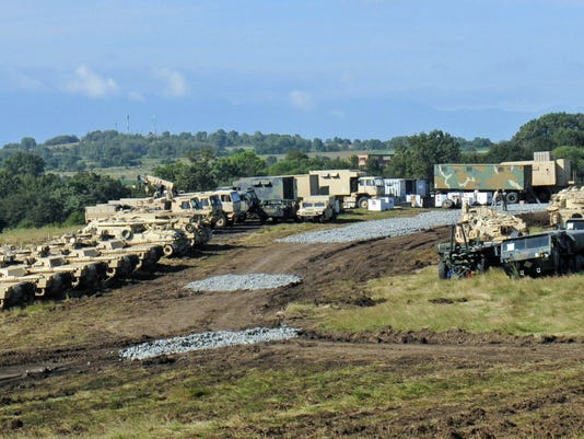 116th CBCT moves equipment by land and sea for Saber Guardian