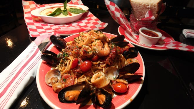 Spaghetti Frutti Di Mare dinner at Parm Centro Restaurant on South Street in Morristown.