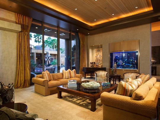 The interior of the Palm Springs home of Jim Houston, one of the Coachella Valley's most prominent philanthropists.