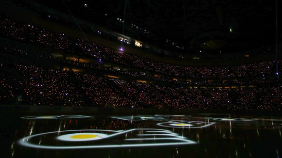 A pregame light show didn't go so well in the playoffs. The Flyers will try again for their home opener.